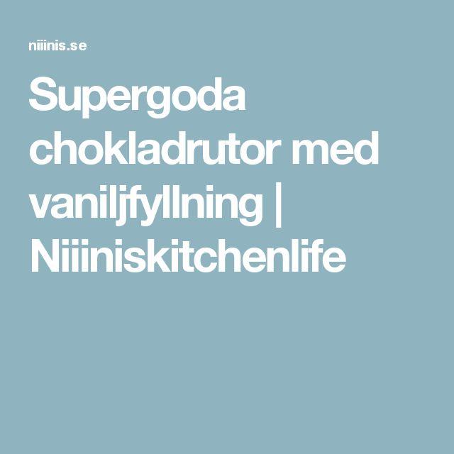 Supergoda chokladrutor med vaniljfyllning | Niiiniskitchenlife