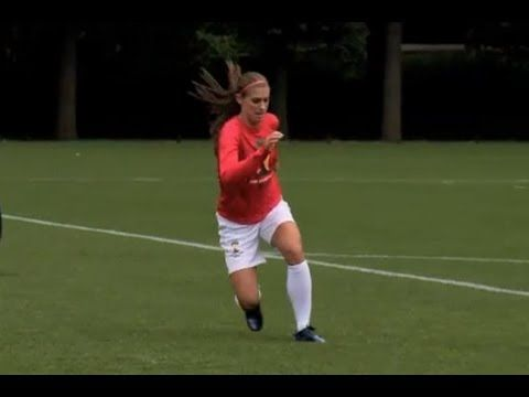 Alex Morgan Soccer Workout: Running Plant & Cut