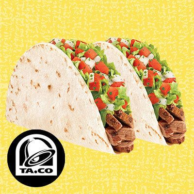 A list of fast food with smart points:  HG's Drive-Thru Meals Under 350 Calories: Taco Bell Fresco-Style Steak Soft Tacos
