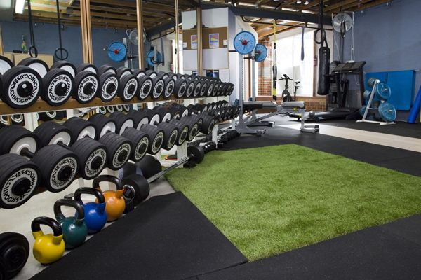 Shots of inside our personal training studio personal training