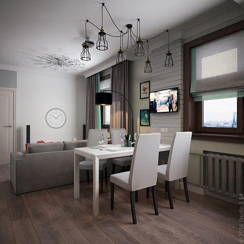 Дизайн трехкомнатной квартиры на ул. М. Ульяновой в г. Москва в скандинавском стиле