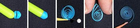 More how to make shapes with paper quilling.   http://www.origami-resource-center.com/quilling-instructions.html