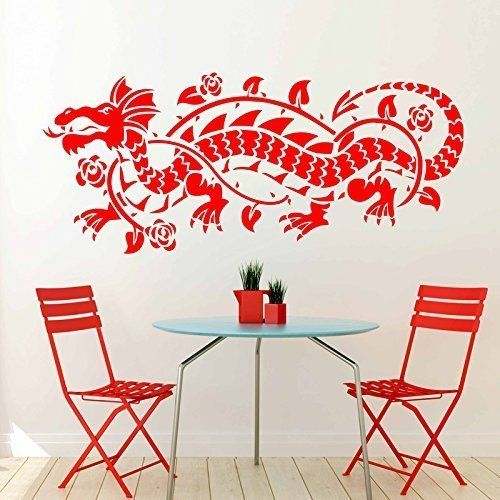 Wall sticker chinese sticker dragon asian symbol of power and excellence