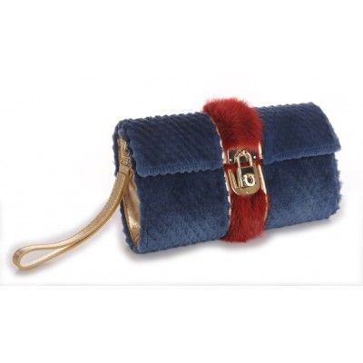 Mink Clutch Bag With Real Leather
