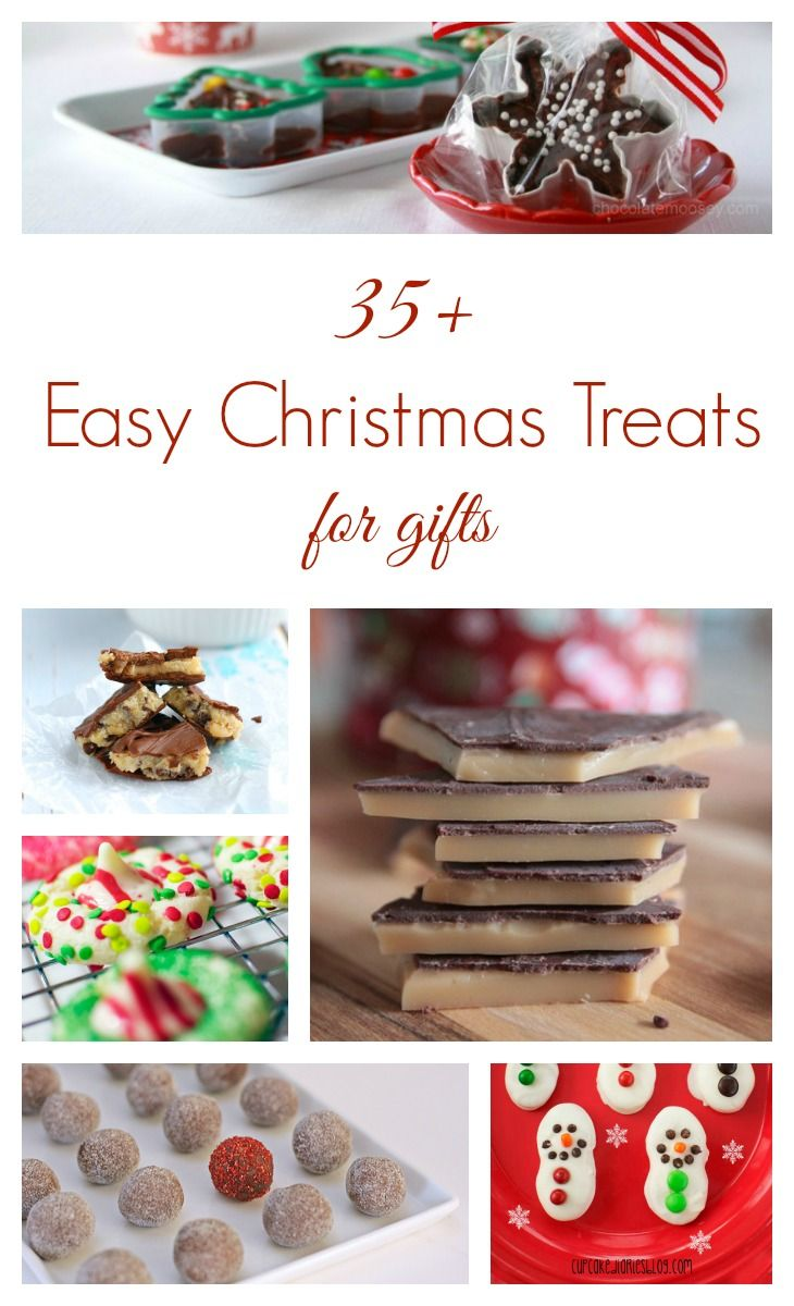 Easy Christmas Treats for Gifts from toffee to fudge to popcorn mixes - so you can plan ahead and surprise your friends and neighbors with a delicious treat this holiday season!