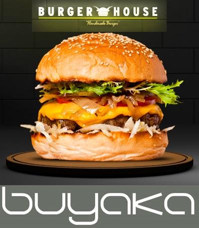 """Bugün Cuma! Serbest gün!  Kendinize izin verin ve #buyaka Burger House'un enfes hamburgerleri ile şımartın.:)"""""""