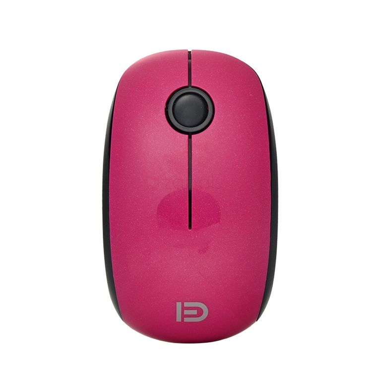 2.4G Fashion Wireless Optical Mouse - Fuchsia. Up to 15-meter Range Connects to your computer with a plug-and-play nano receiver. 1500DPI Optical Speed Advanced laser engine allows you to use the mouse on almost any surface, with high-speed response and unrivaled accuracy. Streamlined Appearance Provides excellent slip-resistance and a comfortable feeling. Long Battery Life You can use your mouse without power interruption for up to 36 months. It goes auto-sleep after 5-minute immov