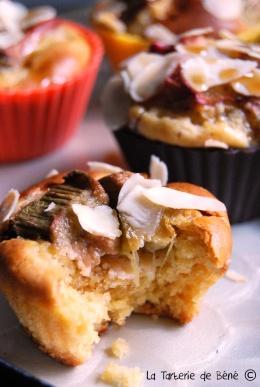 Cupcake rhubarbe et sirop d'érable