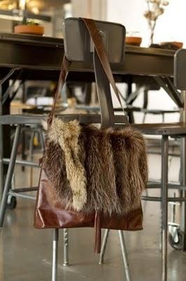Recycled fur bag