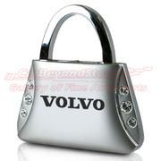 Volvo Clear Crystals Purse Shape Key Chain