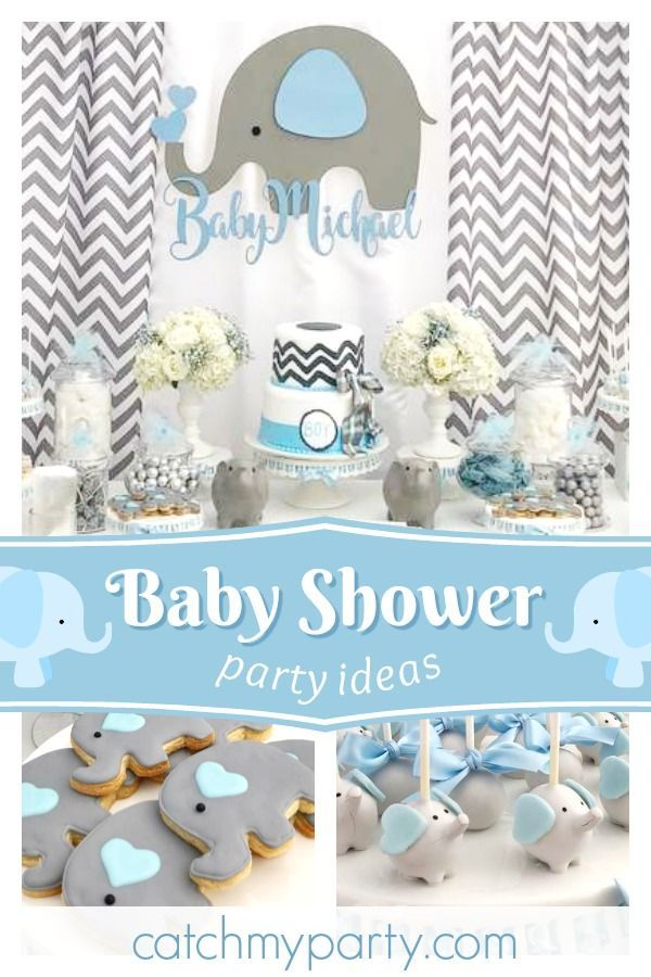 Take A Look At This Wonderful Elephant Themed Baby Shower The Cake Pops Are So Cute See More Party Ideas And Share Yours Catchmyparty