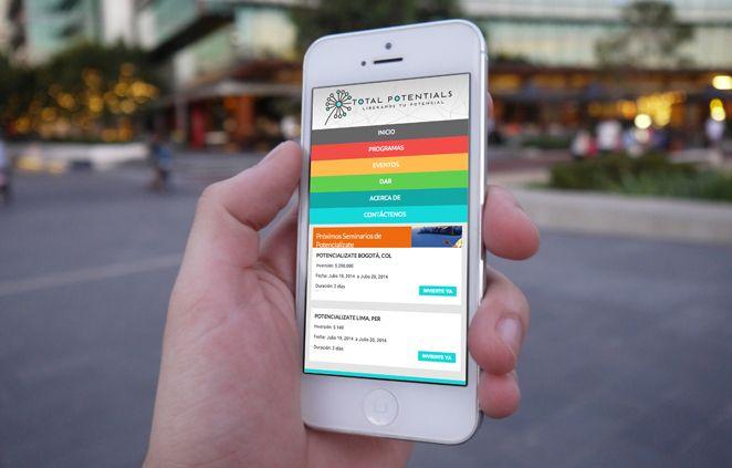 Diseño Responsive - Sitio Web Total Potentials