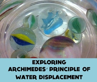 Mr Archimedes Bath by Pamela Allan and Water Displacement experiment