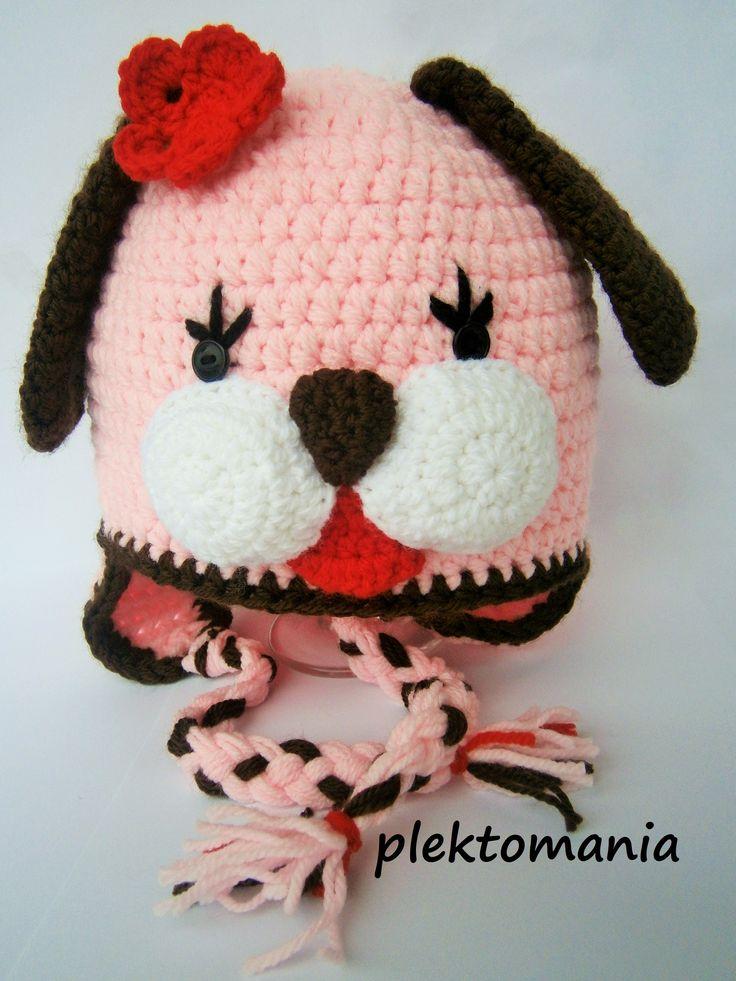 crochet lady dog