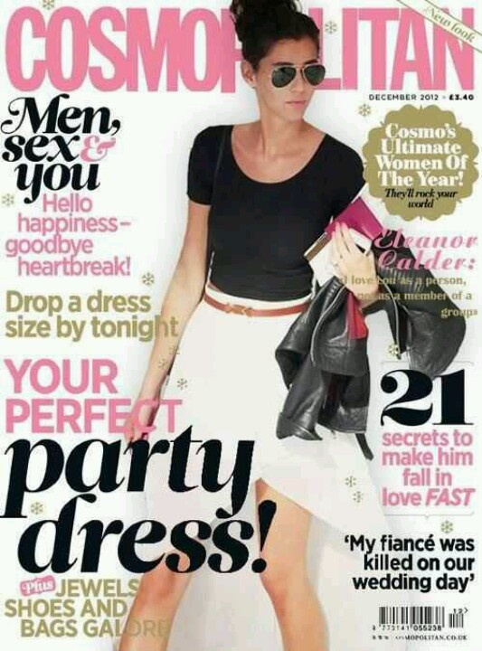 Eleanor was on the cover of cosmopolitan!