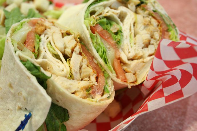4th of July Chicken Wrap Cajun Style