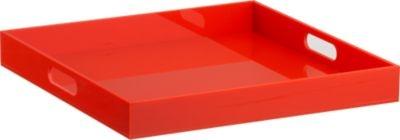 format orange tray   CB2Decor Ideas, Backyards Bbq, Trays Punch, Acrylics Trays, Orange Trays, Storage Ideas, Servings Piece, Formations Orange