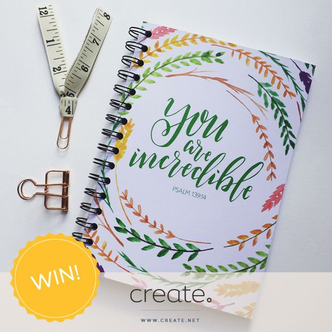 """#WIN this beautiful """"You are incredible"""" lined journal from the wonderful online store graceandsaltink.co.uk. Enter on the Create Facebook page facebook.com/create"""