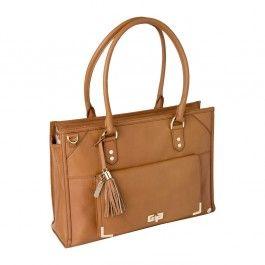 Tan Leather Laptop Handbag