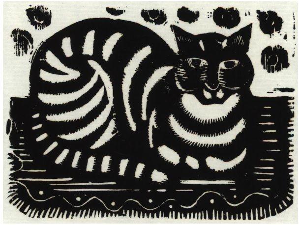 #Katherine #May #Fryer: The #Cat (before 1940)  Unmounted (ref: 8361) #Print from original #woodblock #modernart #llfa #art