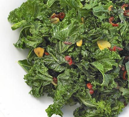 Stir-fried curly kale with chilli & garlic recipe - Recipes - BBC Good Food