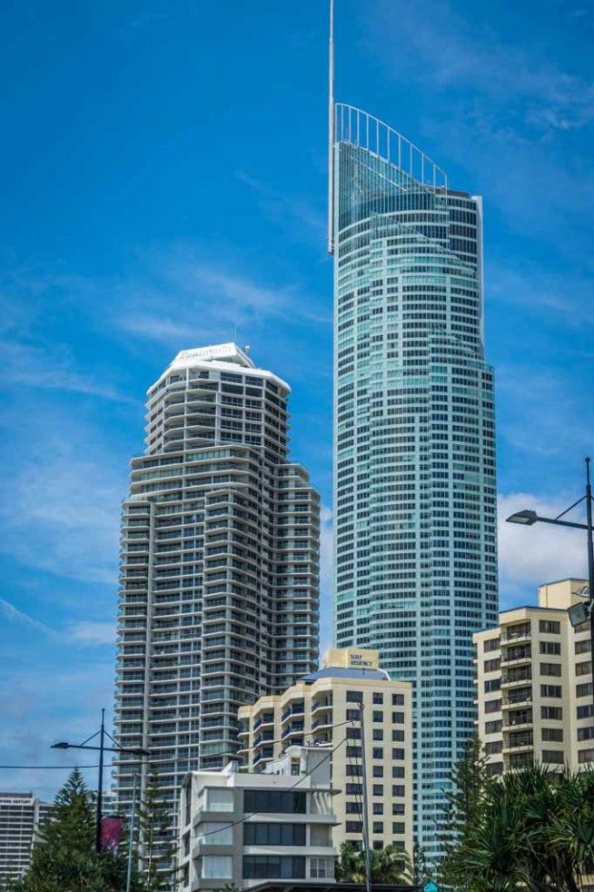 Surfers Paradise: In the heart of Surfers Paradise, Q1 is the tallest building on the Gold Coast and Australia. SkyPoint, its observation deck is at levels 77 & 78.