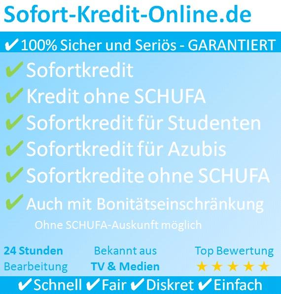 Sofortkredit sowie Kredit ohne SCHUFA auf Sofort-Kredit-Online.de beantragen!