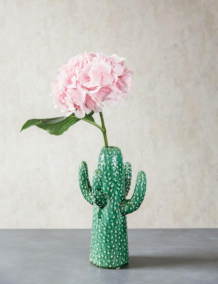 Love this trend! Desert Cactus Vase