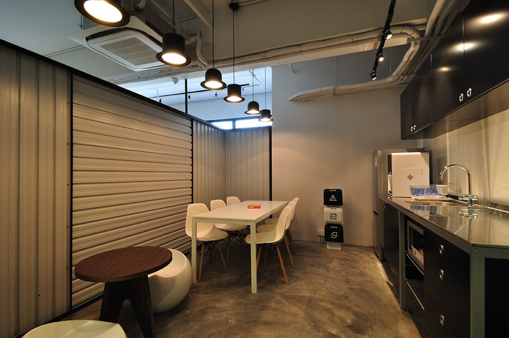 raw office. Cool Raw Office Design \u003e Funky Little Pantry/Rest Area