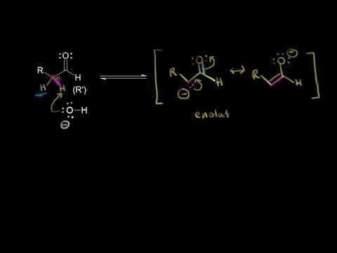 Mixed (crossed) aldol condensation - YouTube