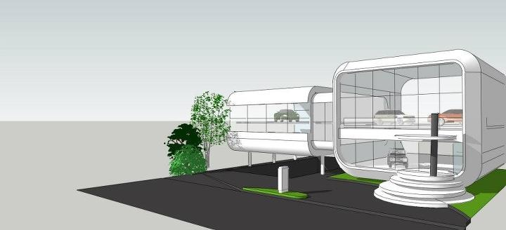 Concept- New Office of EUROKARS, Jakarta | Design by Private! | Sketchup