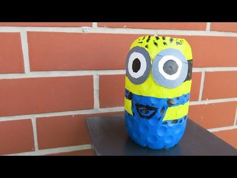DIY Plastic Bottle Minion. How to Make a Minion from Recycled. Fun Crafts for…