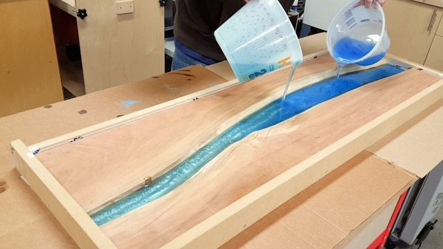 Diy Epoxy River Table With Waterfall Epoxy Wood Table
