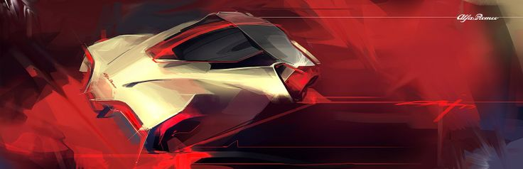 Rosso rosso automotive exterior rendering for Automotive exterior design jobs