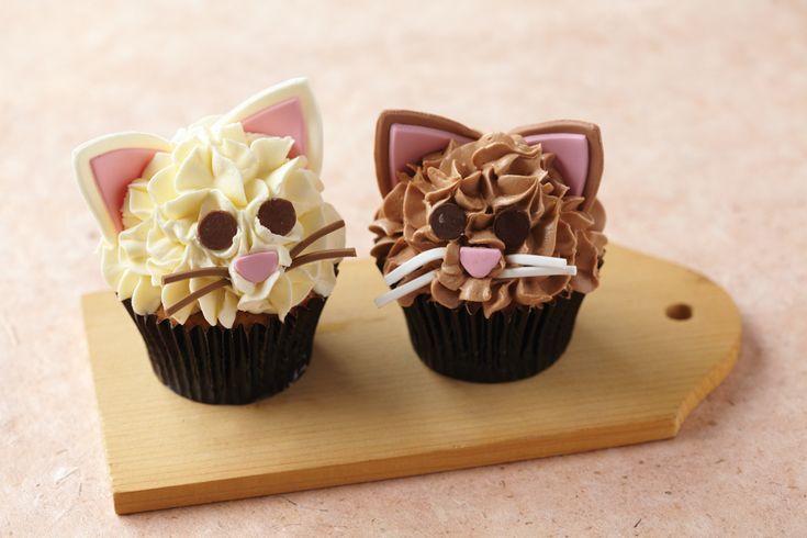 Kitty cat cupcakes - Animal Shelter Bake Sale