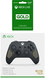 Xbox One Wireless Controller - Recon Tech with 3-Month Xbox Live Gold Membership - Only at GameStop for Xbox One | GameStop