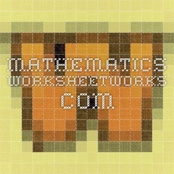Generador fitxes Mathematics - WorksheetWorks.com