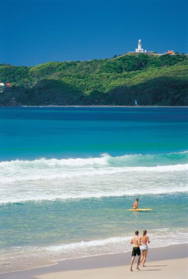 Main Beach Byron Bay, New South Wales, Australia   - Explore the World with Travel Nerd Nici, one Country at a Time. http://TravelNerdNici.com