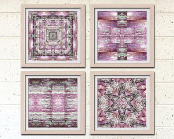 pink geometry | wall art | StudioArt108