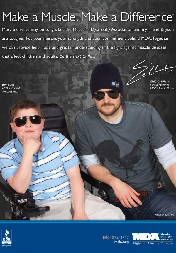 MDA Muscle Team member Eric Church is the next to flex for MDA in the fight against muscle disease.