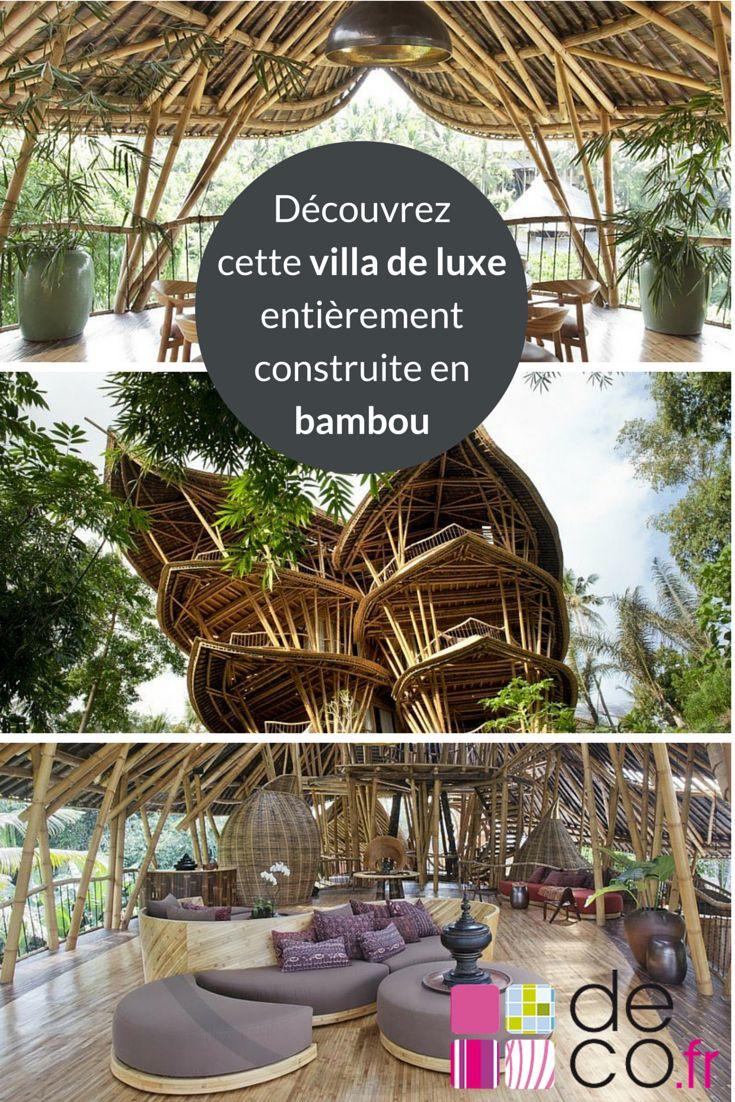 Au coeur de la jungle balinoise, la Sharma Spring est une villa de luxe entièrement construite en bambou ! Découvrez-la sur Deco.fr !