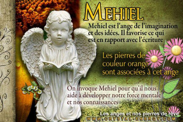 Mehiel l'ange de l'imagination et de la force mentale est associe aux pierres de couleur orange