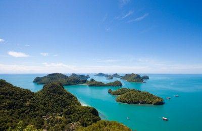 Vue aérienne sur Koh Samui #Thaïlande