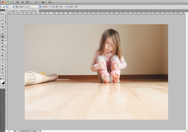photoshop editing: creating negative space