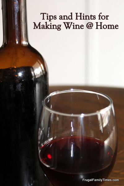 DIY: Tips and Hints for Making Wine at Home.  It doesn't sound hard!