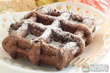 Receita de Waffle de chocolate em receitas de biscoitos e bolachas, veja essa e outras receitas aqui!