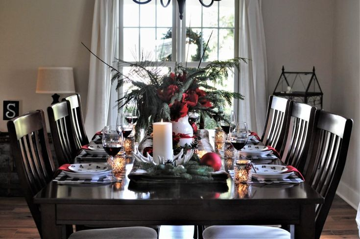 Rustic Christmas Table Pottery Barn