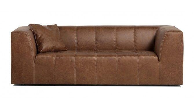 Canapé 3 places industriel simili cuir - Graham