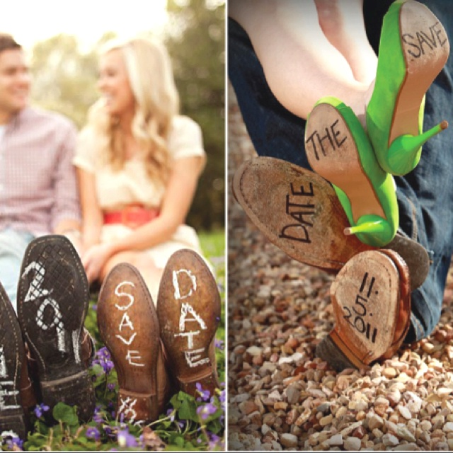 Save the date shoes