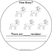How Many Reindeer Book for Early Readers - EnchantedLearning.com